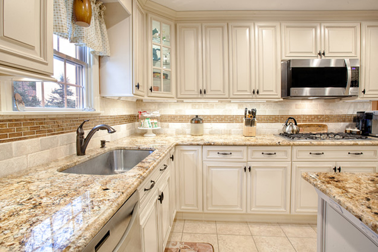 For Something More Traditional: Fabuwood Classic Wellington Ivory Or Allure  Fusion Blanc Cabinets.