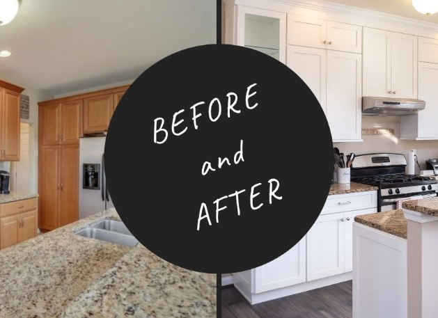 remodeled kitchen before and after